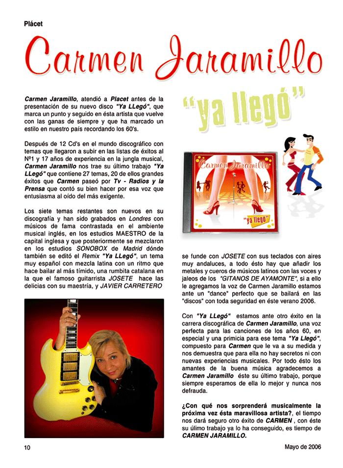 Carmen Jaramillo publicidad revista Plácet