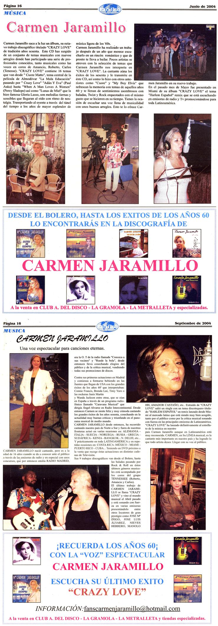 Carmen Jaramillo publicidad periódico Pacifico.